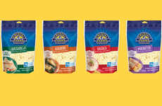 Hispanic Cuisine Cheeses - These New Crystal Farms Shredded Cheeses Help Create Authentic Dishes