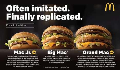 Resized Fast Food Burgers