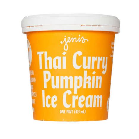 Thai Pumpkin Ice Creams - This Jeni's Ice Cream Flavor Tastes of Thai Curry and a Seasonal Gourd