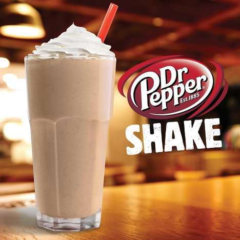 Soda-Flavored Milkshakes - This Dr. Pepper Milkshake is Offered by Burger King