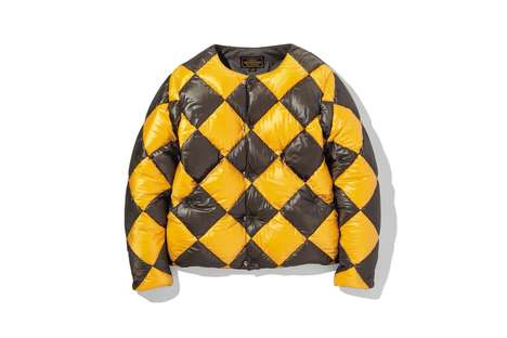 Puffy Checkered Jackets - NEIGHBORHOOD Updated Its 'Line Crewman' Design with Fresh Colorways