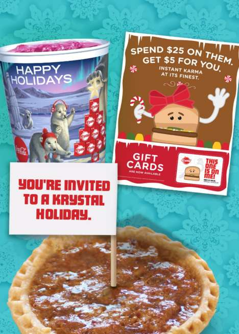 Single-Serve Pecan Pies - Krystal's New Holiday Menu Features Personal-Sized Pecan Pies