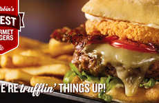 Festive Truffle Burgers - Red Robin's Billion Dollar Baby Burger Features Truffle-flavored Cheese