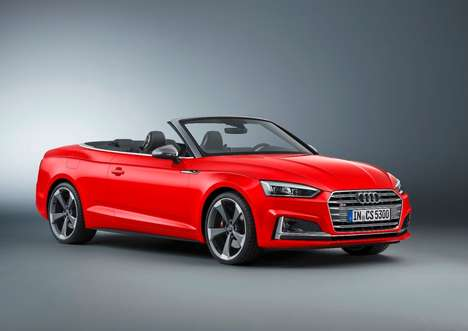 Reinforced Convertible Coupes - The Audi A5 Cabriolet Promises Sporty Style and Plentiful Thrills