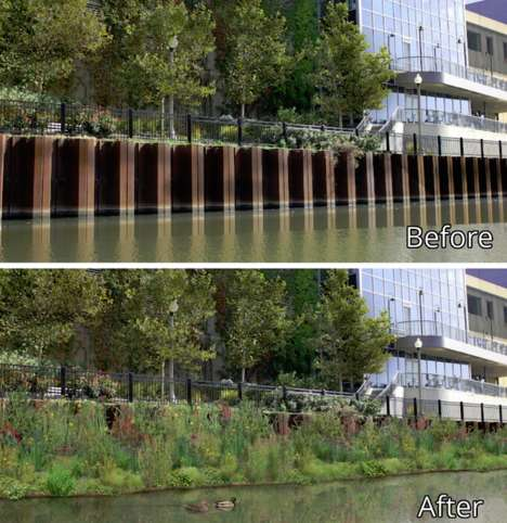 Wildlife-Restoring Floating Gardens - This Urban Project Hopes to Revitalize the Chicago River