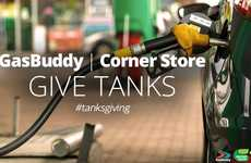 Festive Fuel Promotions - The 'Tanks'giving' Campaign Aims to Reward Holiday Travelers with Free Gas