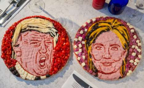 Political Pizza Art