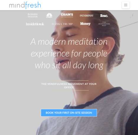 Workplace Meditation Sessions - 'Mindfresh' Offers Meditation Experiences for the Office
