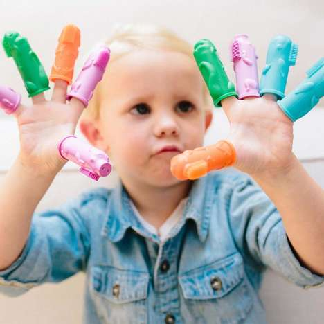 Finger Puppet Toothbrushes - 'The Brushies' are Toys That Helps Parents Brush Their Kids' Teeth