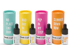 Energizing Essential Oil Kits - This Essential Oil Branding Provides Inspiring Affirmations