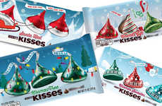 Cheery Holiday-Themed Chocolates - The Hershey's 2016 Holiday-Themed Kisses Feature Festive Wrappers