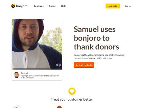 Relationship-Building Business Apps - The 'bonjoro' Customer App Lets Brands Send Personal Thanks
