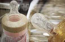 Gold-Encrusted Baby Bottles - These Unique Baby Bottles Feature Diamonds and 24 Karat Gold Accents