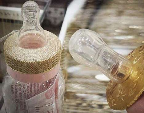 Gold-Encrusted Baby Bottles