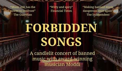Banned Music Concerts - Forbidden Songs is a Live Event That Will Feature Banned Music from All Over