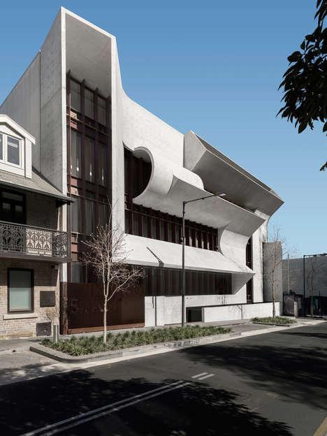 Light-Bending Concrete Facades