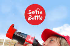 Selfie-Taking Soda Bottles - This Coca-Cola Bottle Captures the Special Moment of Sipping Coke