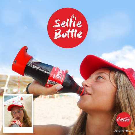 Selfie-Taking Soda Bottles