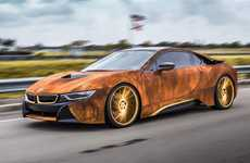 Rusty Supercar Decals - This BMW i8 was Customized by MetroWrapz to Look Like a Rusty Car