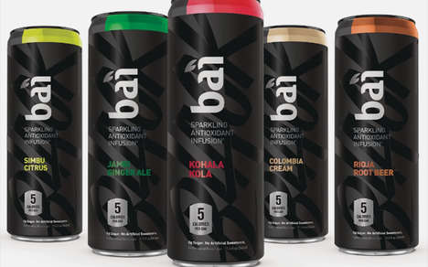 Antioxidant-Infused Sparkling Drinks - The New Bai Black Sparkling Drinks are Infused with Caffeine