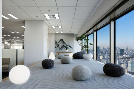 Zen Office Interiors - This Office Space Was inspired by Japanese Architecture and Buddhist Values