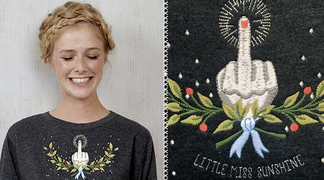 Snarky Embroidered Shirts - Locher's New Collection of Embroidered Tops Reveal Edgy Statements