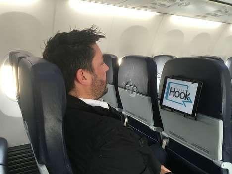 Airplane Seat Tablet Holders