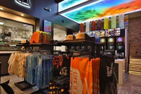 Mexican Restaurant Clothing Retailers - The 'Taco Bell Taco Shop' Offers Merchandise from the QSR