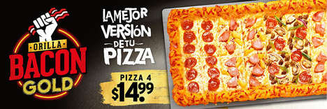 Bacon-Encrusted Pizzas