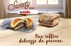 Chocolate Spread-Stuffed Burgers - The 'Sweety con Nutella' Puts a Sugary Twist on a Classic Dish