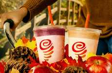 Cheerful Holiday Smoothies - Jamba Juice is Offering Two Seasonal Fruit Smoothies This Winter