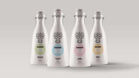 Reusable Bottle Milk Branding
