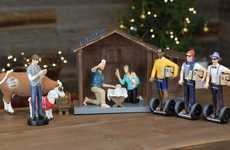 Hipster Holiday Decorations - The Hipster Nativity Set Gives the First Christmas a Modern Makeover