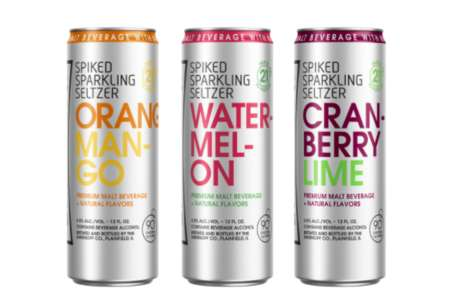 Flavored Alcoholic Seltzers - Smirnoff is Now Sellng 'Spiked Sparkling Seltzers' in Slim Cans
