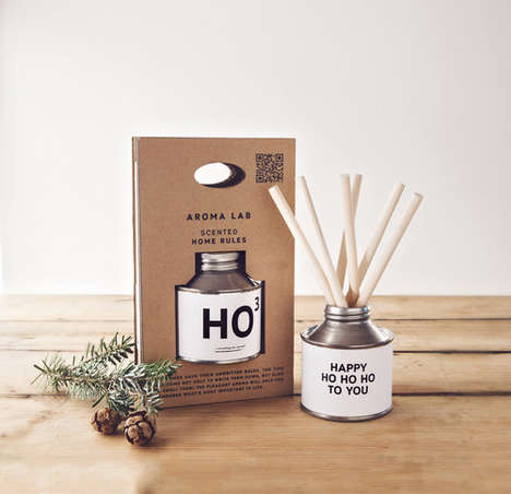 Canned Christmas Candles - These Holiday-Themed Candles are Made from Natural Ingredients