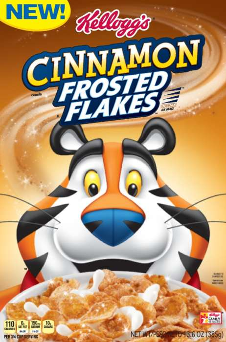 Cinnamon-Encrusted Kids' Cereals - Kellogg's New Cinnamon Frosted Flakes Revive a Classic Cereal
