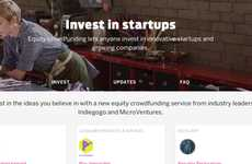 Start-Up Investment Platforms - Indiegogo Now Allows Investors to Claim Stakes in Companies
