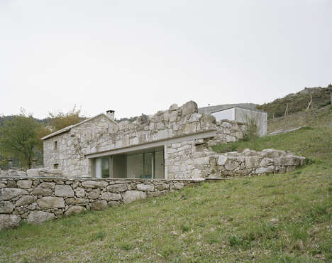 Refurbished Rubble Houses - 'House in Melgaco' is a Modernist Abode Built in the Ruins of a Farm