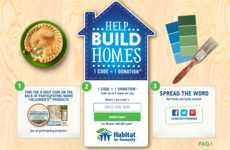 Community-Supporting Food Codes - Marie Callender's On-Pack Codes Help Support Habitat for Humanity