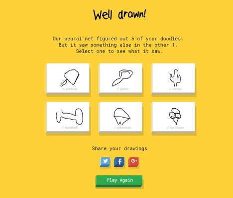 Neural Network Drawing Games - 'Quick, Draw!' Teaches Google's Neural Network to Recognize Drawings