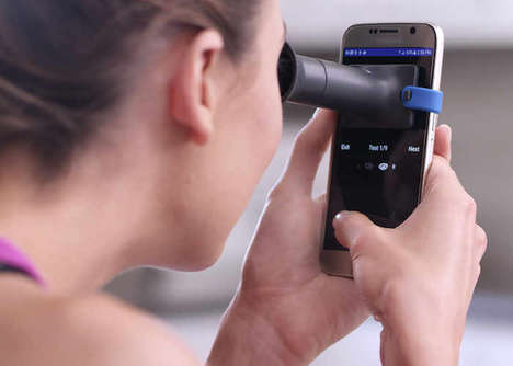 Low-Cost Vision Testers - The 'EyeQue' Uses a Smartphone to Perform Vision Tests Whenever Needed