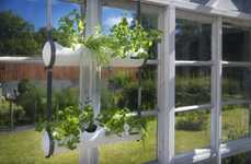 Space-Saving Gardening Tubes - The 'Herbster' Hanging Garden is Suitable for Indoor or Outdoor Use