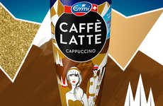 Après-Ski Coffee Packaging - Caffè Latte's New St. Moritz Cup Celebrates the Holiday Season
