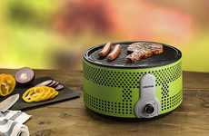 Smokeless Charcoal BBQs - The Gourmia Pro Smart Portable Charcoal Grill is Suitable for Use Anywhere