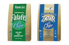 Herbaceous Falafel Chips - Flamous' Original Falafel Chips are the Perfect Pairing for Hummus