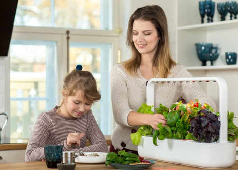 Automated Indoor Produce Farms - The Click & Grow 'Smart Garden 9' Gardening Box is Easy to Use