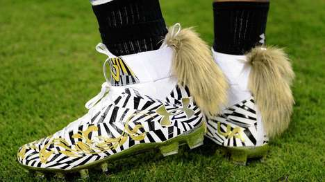 Fox Tail Football Cleats - Cam Newton's Cleats Feature Flamboyant Fox Tails