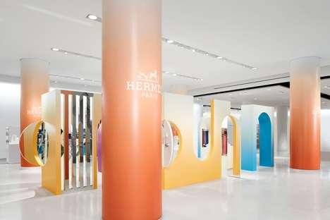 Sculptural Pastel Designer Stores