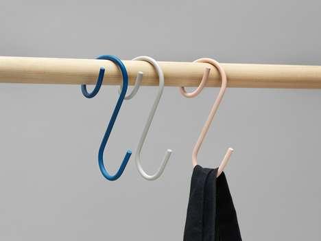 Q-Shaped Clothing Hooks