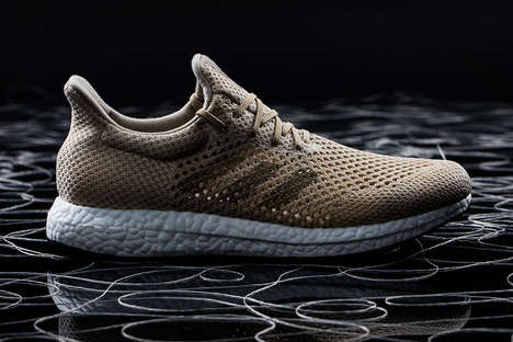 Conceptual Biodegradable Sneakers - The adidas Futurecraft Biofabric Shoes are Made Using Biosteel